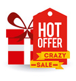 shopping label vector image