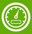 speedometer icon green vector image