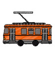 tram transport isolated icon vector image
