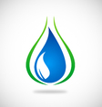 water ecology leaf logo vector image