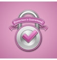 Combination lock sign vector image