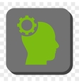 Intellect Gear Rounded Square Button vector image