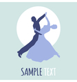 Couple dancing ballroom dance logo vector image