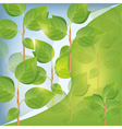 Abstract eco background with plant vector image vector image