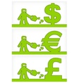 Human and money signs vector image