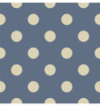 Seamless beige polka dots on blue background vector image vector image
