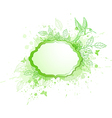 Green ecology banner with leaves and bird vector image vector image