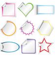 blank stickers vector image