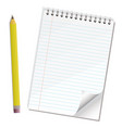 note paper pencil vector image vector image