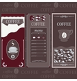 Coffee templates brown colore vector image