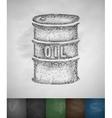 a barrel of oil icon vector image