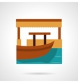 Berth flat color icon vector image