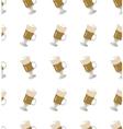 coffee latte seamless pattern vector image