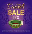 diwali sale banner vector image
