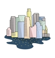 Megalopolis icon in cartoon style isolated on vector image