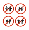 Prohibition sign for same-sex marriage vector image