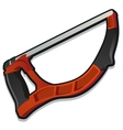 Red arm-saw working tools series vector image