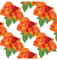 Watercolor Red roses pattern vector image