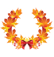 wreath from autumn leaves vector image