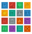 square media icons set 5 vector image vector image