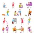 Children Characters Set vector image