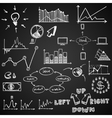 business finance doodle hand drawn elements on vector image