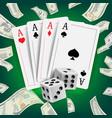 casino poker design poker cards playing vector image