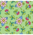 Colorful pattern with flower vector image