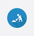 construction works Flat Blue Simple Icon with long vector image