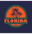 Florida 2017 label vector image