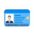Id cards template with man vector image