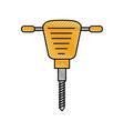 jackhammer equipment instrument for construction vector image