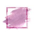 purple pink watercolor grunge frame vector image