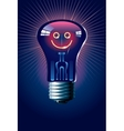 Smiling lamp vector image
