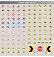 traffic signs big set vector image