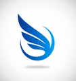 Wing fly abstract logo vector image