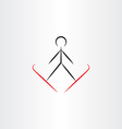 ski jump icon vector image vector image
