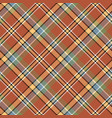 brown orange color tartan seamless fabric texture vector image