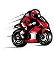 motorcycle race vector image vector image