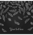 Background with falling feathers vector image vector image