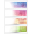 Bright cards collection - squares lines vector image
