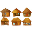 Cottage set vector image