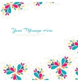 Bright card Abstract colorful vector image