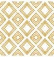 Hand drawn rhomb beige seamless pattern vector image