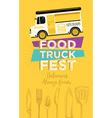 Food truck party invitation Food menu template vector image