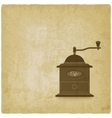 coffee grinder mill old background vector image