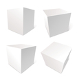 Blank box isolated on white background vector image