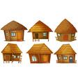 Cottage set vector image