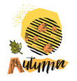 hand drawn autumn abstract textured vector image