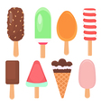 Ice Cream Poster Different kinds of ice cream vector image